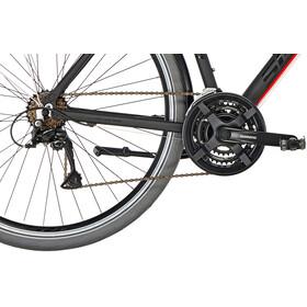 Serious Cedar S Hybridcykel rød/sort